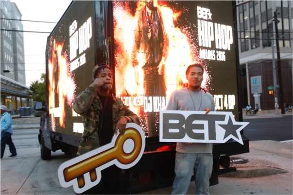 BET mobile truck ad